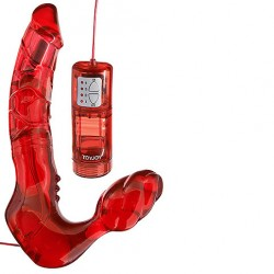Bend Over Boyfriend Vibrating Red