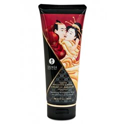 Shunga - Strawberry Wine Kissable Massage Cream 200 ml - krem do masażu