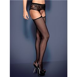 Obsessive Garter stockings S307 czarne XL/XXL