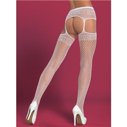 Obsessive Garter stockings S502 białe XL/XXL