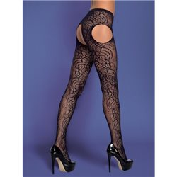 Obsessive Garter stockings S208 czarne XL/XXL