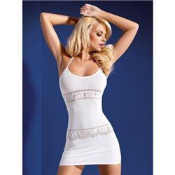 Obsessive Sukienka D307 biała S/M/L