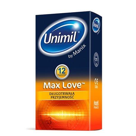 Unimil Max Love - 1op./12szt. prezerwatywy wydłużające stosunek