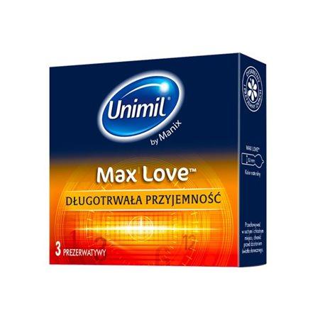 Unimil Max Love - 1op./3szt. - prezerwatywy wydłużające stosunek