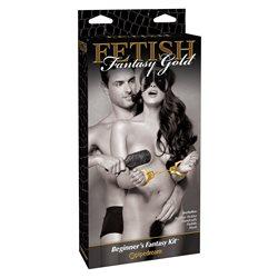 Ff Gold Beginners Fantasy Kit - złoty zestaw BDSM