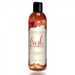 Intimate Earth - Fresh Strawberries Flavored Lubricant 120 ml - lubrykant