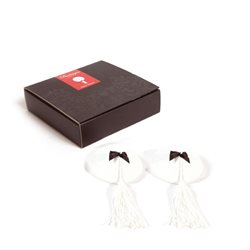 Bijoux Indiscrets - Burlesque pasties White