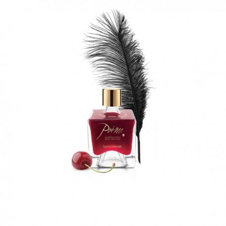 Bijoux Indiscrets - Poeme Sweetheart Cherry - balsam do malowania ciała