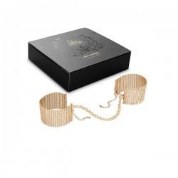 Bijoux Indiscrets - Gold metallic mesh handcuffs