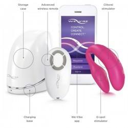 We-Vibe 4 Plus różowy - ekskluzywny zdalnie sterowany wibrator dla par