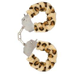 Furry Fun Cuffs Leopard Plush - kajdanki