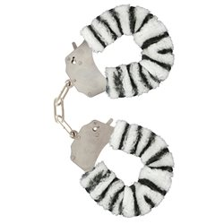 Furry Fun Cuffs Zebra Plush - kajdanki