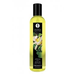 Shunga - Exotic Green Tea Organic Massage Oil 250 ml - olejek do masażu