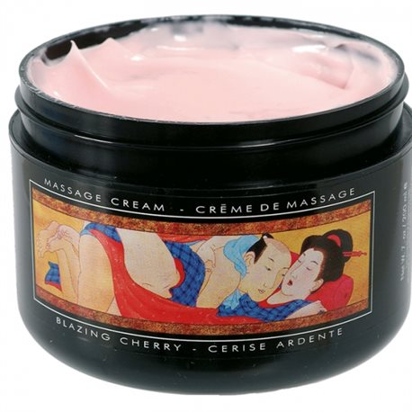 Shunga - Blazing Cherry Massage Cream 200 ml