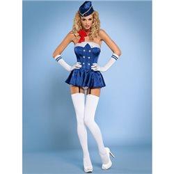 Obsessive Stewardess gorset kostium 6-częściowy S/M