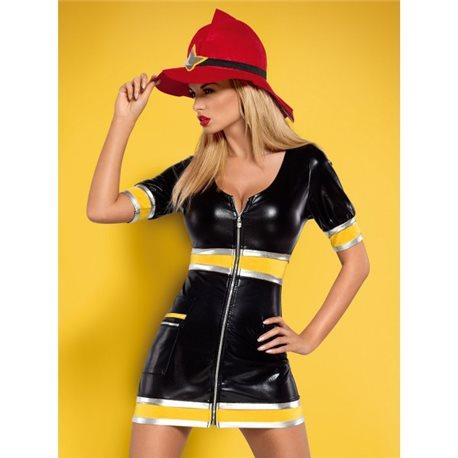 Obsessive Firegirl kostium 3-częściowy S/M