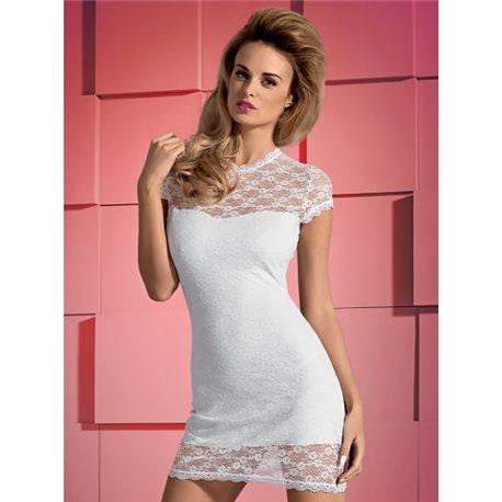 Obsessive Dressita sukienka i stringi białe L/XL